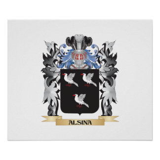 Alsina Coat of Arms - Family Crest Poster