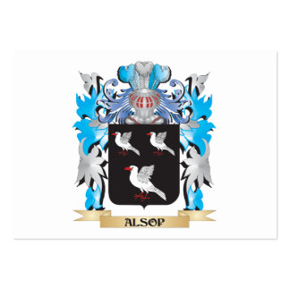 Alsop Coat Of Arms Business Card Templates