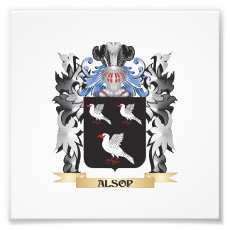 Alsop Coat of Arms - Family Crest Photograph