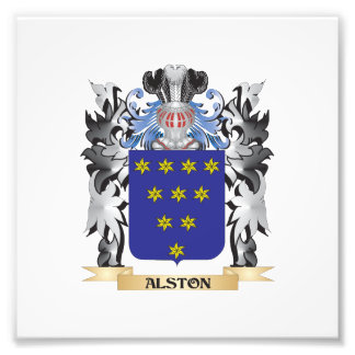 Alston Coat of Arms - Family Crest Art Photo