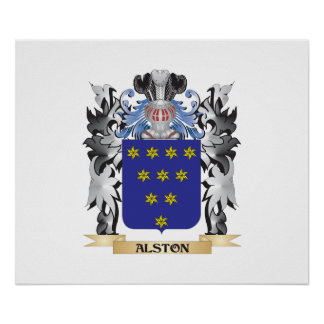 Alston Coat of Arms - Family Crest Poster