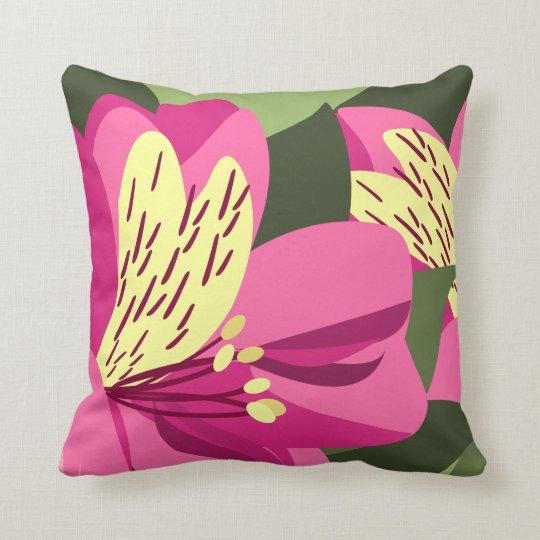 Alstroemeria Art On Pillows