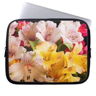 Alstroemeria Flowers Laptop Sleeve