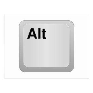 Alt Computer Key Postcard