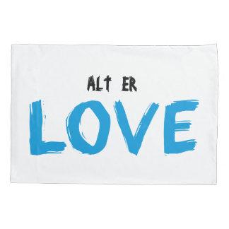 Alt Er Love Evak Pillow Case (Blue)