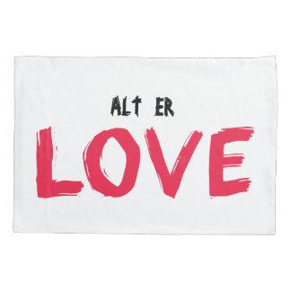 Alt Er Love Evak Pillow Case (Red)