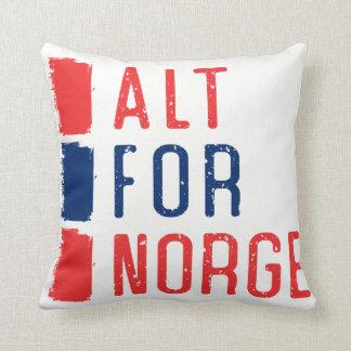 Alt For Norge Throw Pillow, Norwegian Motto Throw Pillow