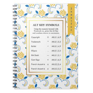 Alt Key Symbols for Writers Note Books