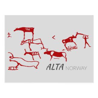 Alta, Norway (rock carving) Postcard