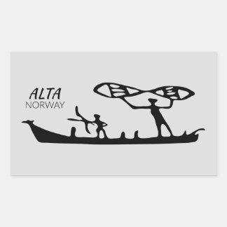 Alta, Norway (rock carving) Sticker