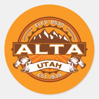 Alta Tangerine Classic Round Sticker