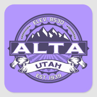 Alta Violet Square Sticker