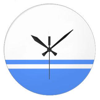 Altai Republic flag symbol Russia Large Clock
