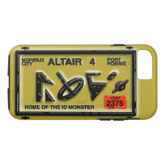 ALTAIR FOUR SPACE LICENSE PLATE by Jetpackcorps iPhone 7 Case