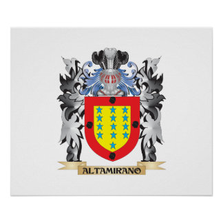 Altamirano Coat of Arms - Family Crest Poster