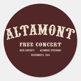 altamont free concert stickers