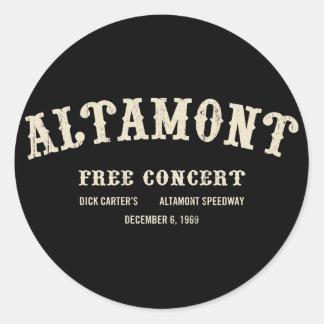 Altamont libèrent le concert adhésif rond