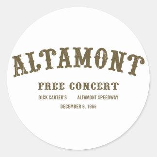 Altamont libèrent le concert autocollant rond