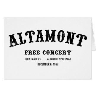 Altamont libèrent le concert carte de vœux