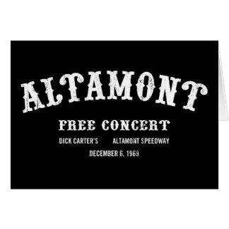 Altamont libèrent le concert cartes de vœux