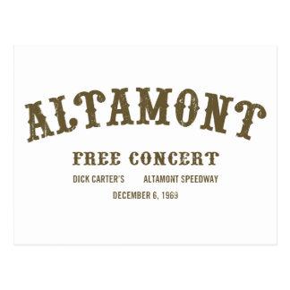 Altamont libèrent le concert cartes postales