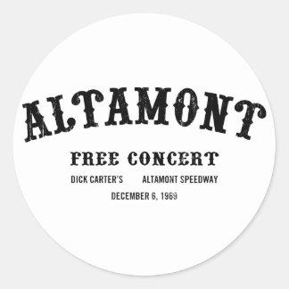 Altamont libèrent le concert sticker rond