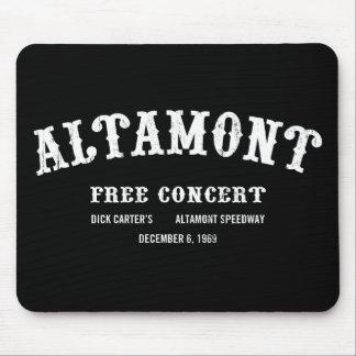 Altamont libèrent le concert tapis de souris
