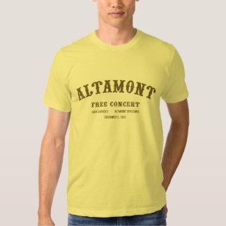 Altamont libèrent le concert tshirts