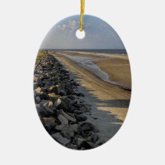Altantic Ocean Sea Barrier Ceramic Oval Ornament