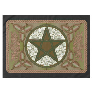Altar Cloth w/ Green Pentagram & Triquatras