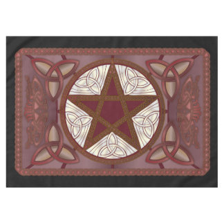 Altar Cloth w/ Red Pentagram & Triquatras