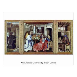 Altar Merode Overview By Robert Campin Postcard