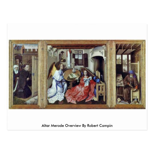 Altar Merode Overview By Robert Campin Postcard