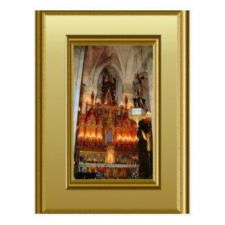 Altar, St Peter, Aire sur la Lys, France Postcard