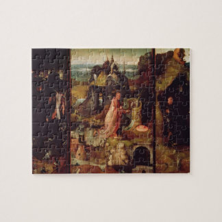 Altarpiece of the Hermits (oil on panel) Jigsaw Puzzle