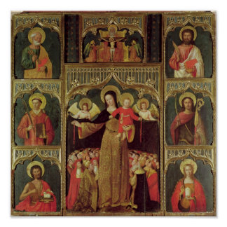 Altarpiece of the Virgin of the Rosary, c.1500 Poster