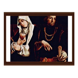 Altarpolyptychon Of Recanati Crest Of The Right Wi Postcard