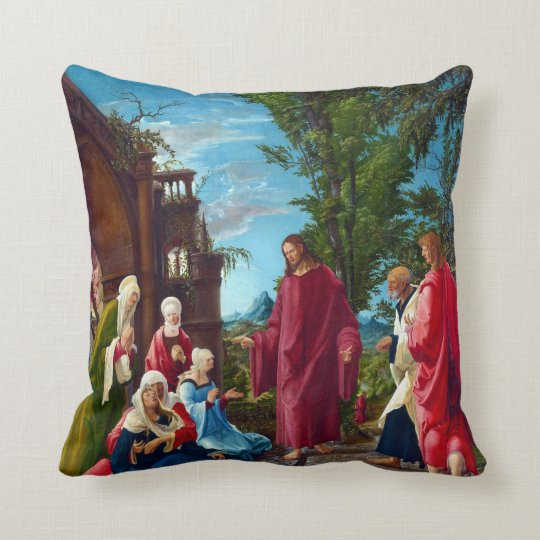 Altdorfer Christ Taking Leave of his Mother Throw Pillow