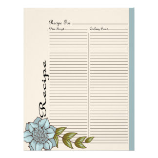 Alter Recipe Page for Blue Rose Recipe Binder - 3