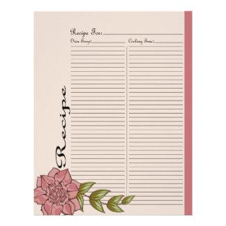 Alter Recipe Page for Pink Rose Recipe Binder - 2