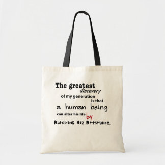 alter your life budget tote bag