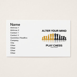 Alter Your Mind Play Chess (Reflective Chess Set) Business Card