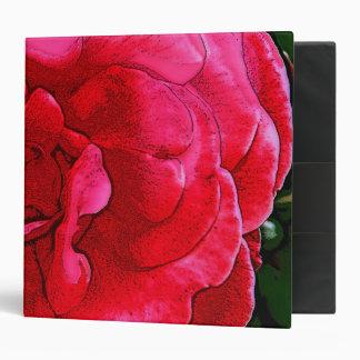 Altered Art Urban Decorative Pink Rose Design Binders