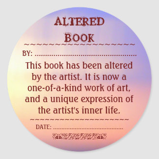 Altered Book sticker