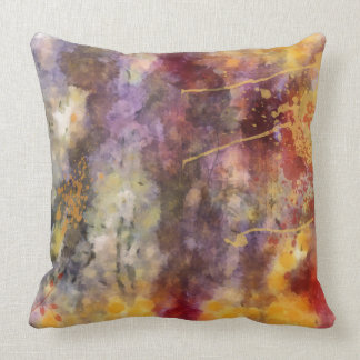 Altered Floral Art Warm tones pillow