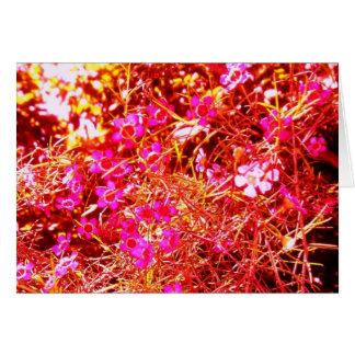 Altered Pink & Orange Flower Mist Card