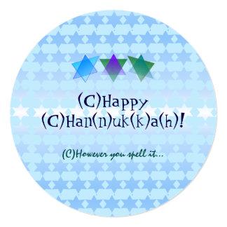 Alternate Spellings Chanukah Card