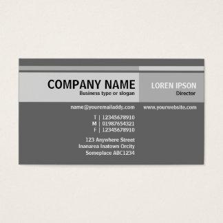 Alternate Tones - Gray Business Card