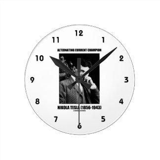 Alternating Current Champion Nikola Tesla Wallclock