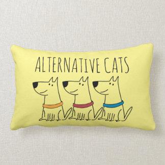 """Alternative Cats Cotton Throw Pillow,  13"""" x 21"""" Lumbar Pillow"""